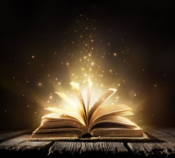 magic-book-with-shining-lights